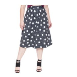 Dot Printed full midi skirt
